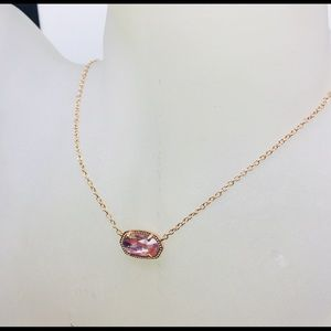 Kendra Scott Elisa Dichroic Rose Gold necklace